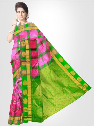 Bairavi Pink Traditional Silk Saree