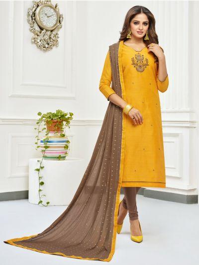 Isabella Women's Jharna Silk with Hand Work Dress Material-JSHWDM1011