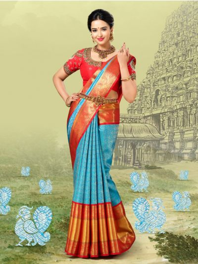 Vivaha Goddess Pure Kanchipuram Silk Saree