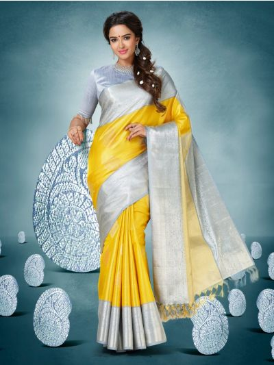 Vivaha Goddess Kanchipuram Handloom Pure Silk Saree