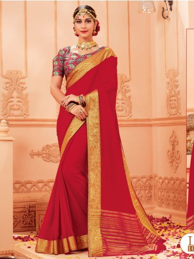 Kathana Fancy Chiffon Saree-LIL1021