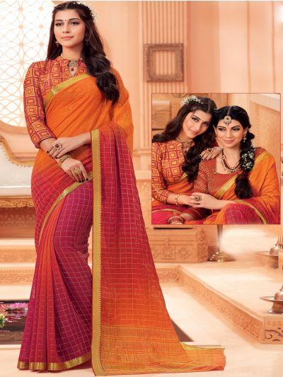 Kathana Fancy Chiffon Saree