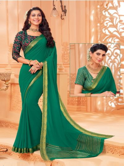 Kathana Fancy Chiffon Saree-MED9186739