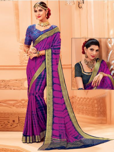 Kathana Fancy Chiffon Saree-LIL1033