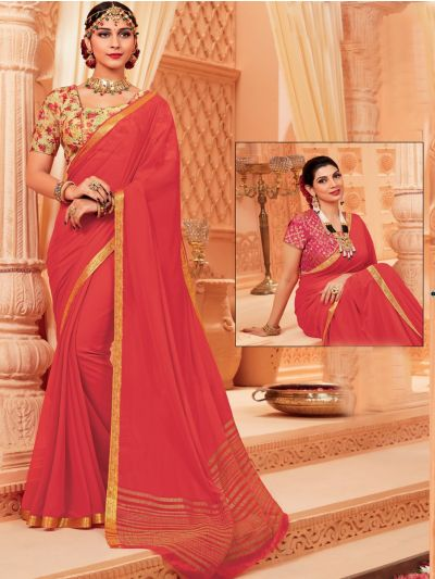 Kathana Fancy Chiffon Saree-LIL1036