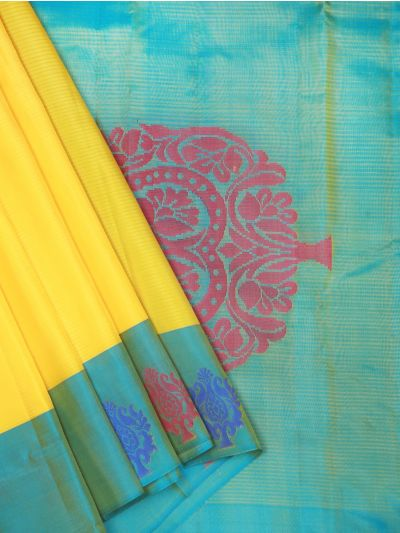 Bairavi Traditional Silk Saree - Yellow - BTSS1057