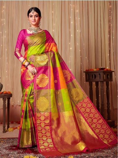 Bairavi Traditional Multi Color Silk Saree