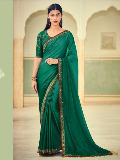 Exclusive Designer Party Wear Saree With Designer Blouse - EDP1078