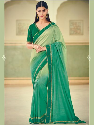 Exclusive Designer Party Wear Saree With Designer Blouse - EDP1082