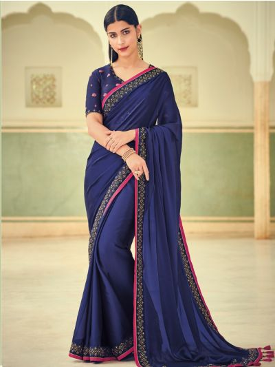 Exclusive Designer Party Wear Saree With Designer Blouse - EDP1084