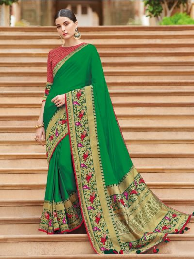 Exclusive Designer Party Wear Saree With Designer Blouse - EDP1086