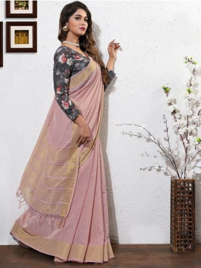 Kathana Fancy Linen Cotton Saree-AAA1088