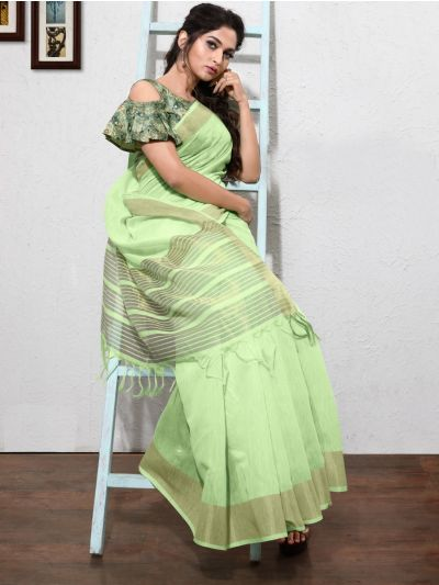Kathana Fancy Linen Cotton Saree-AAA1089