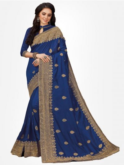 Sana Silk Party wear Saree-Blue - SPWS108