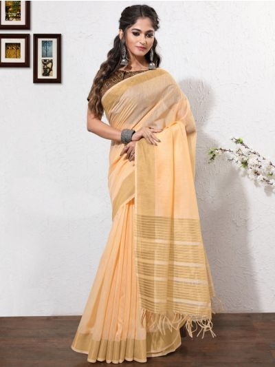 Kathana Fancy Linen Cotton Saree