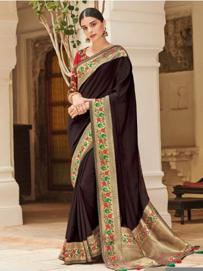 Exclusive Designer Party Wear Saree With Designer Blouse - MEC7873363