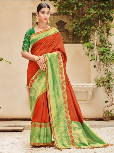 Exclusive Designer Party Wear Saree With Designer Blouse-EDP1094
