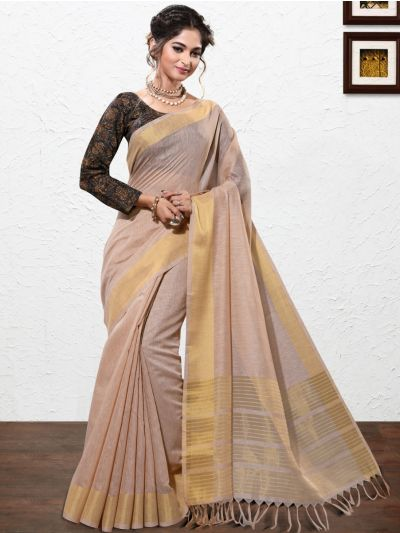 Kathana Fancy Linen Cotton Saree-AAA1094