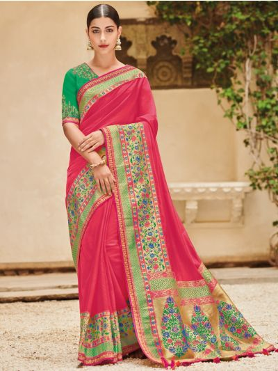 Exclusive Designer Party Wear Saree With Designer Blouse - EDP1096