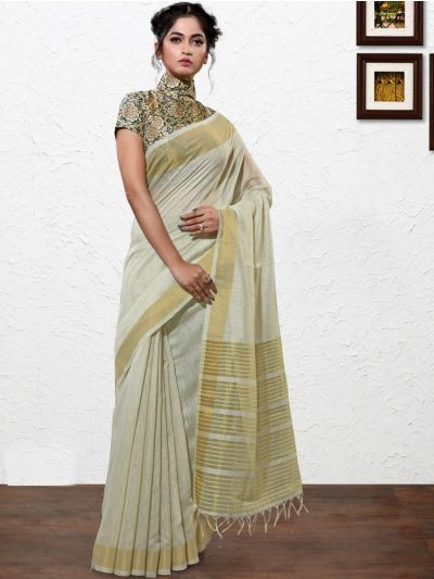 Kathana Fancy Linen Cotton Saree-AAA1097