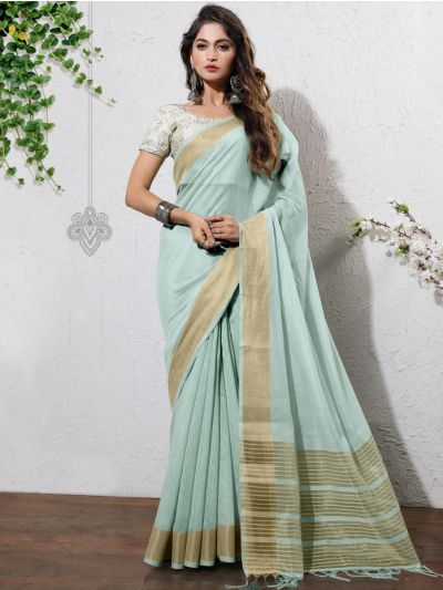 Kathana Fancy Linen Cotton Saree-AAA1099