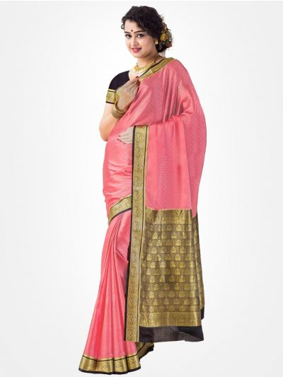 Mysore Silk Saree - Rose-MCSS010