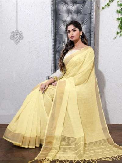 Kathana Fancy Linen Cotton Saree-AAA1100