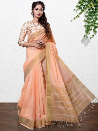 Kathana Fancy Linen Cotton Saree-AAA1101