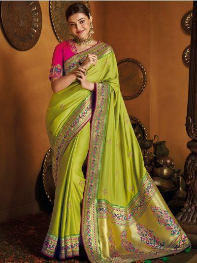 Exclusive Designer Party Wear Saree With Designer Blouse