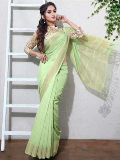 Kathana Fancy Linen Cotton Saree-AAA1102