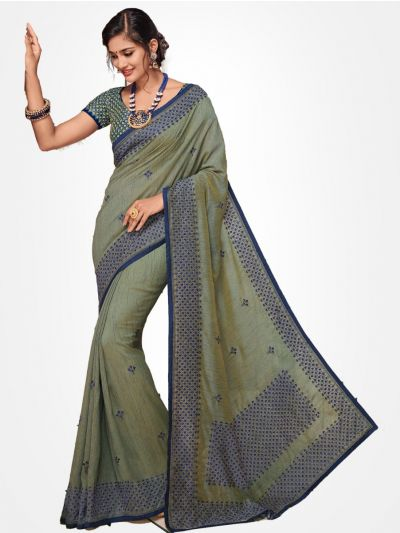 Party wear saree Grey(Dual Shade) - PWSE1104
