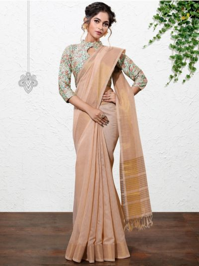 Kathana Fancy Linen Cotton Saree-AAA1104