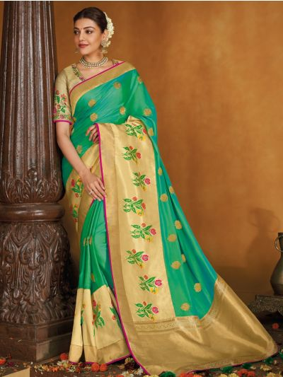 Exclusive Designer Party Wear Saree With Designer Blouse - SKSH1108