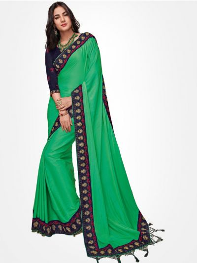 Party wear saree Green - PWSE1111