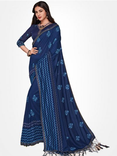 Party wear saree Blue - PWSE1123