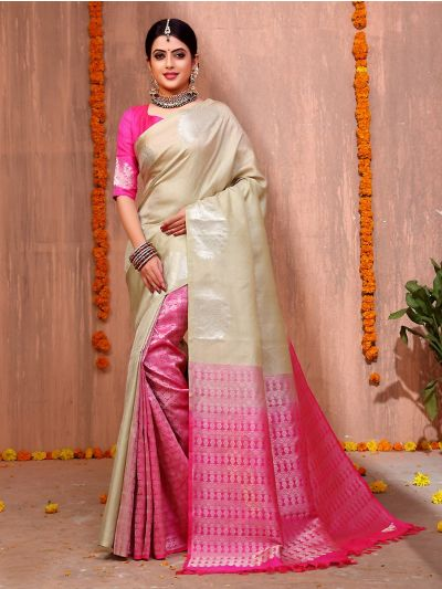 Bairavi Traditional Partly Design Silk Saree