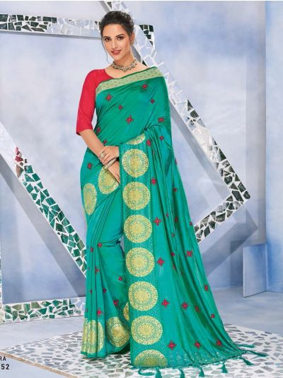 Kathana Fancy Raw Silk With Stone Work Saree-MFB6339930