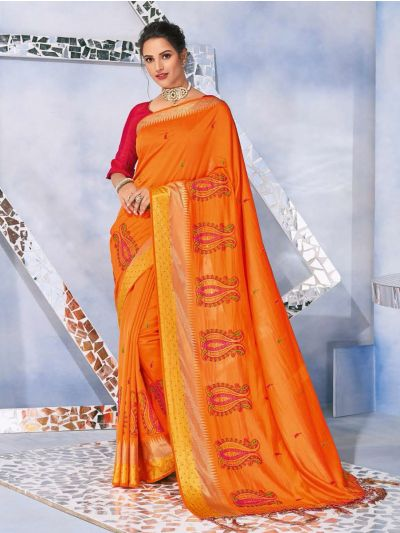 Kathana Fancy Raw Silk With Stone Work Saree-MFB6339933