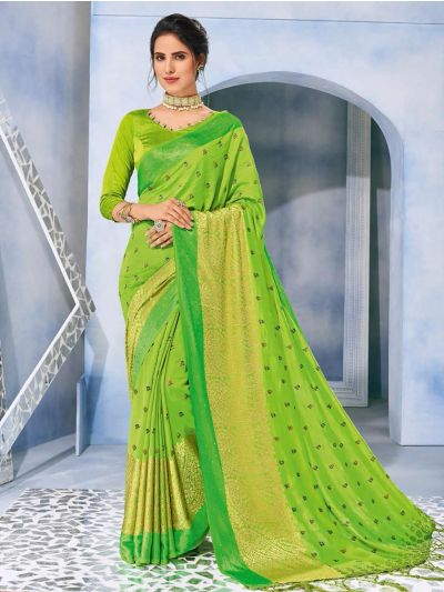 Kathana Fancy Raw Silk With Stone Work Saree-MFB6339934