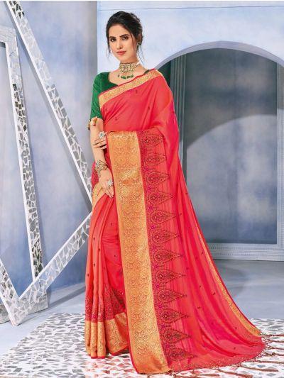 Kathana Fancy Raw Silk With Stone Work Saree-MFB6339937
