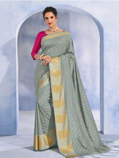 Kathana Fancy Raw Silk With Stone Work Saree