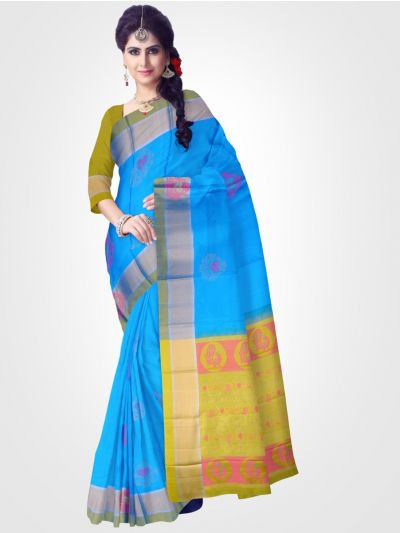Soft Silk Blue Saree