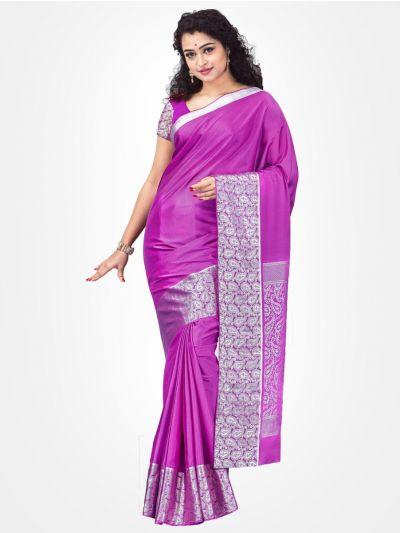 Violet Mysore Silk Saree