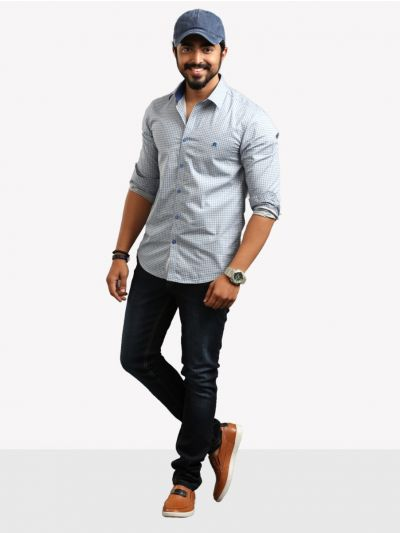 ZF Men's Casual Cotton Shirt - ZF12