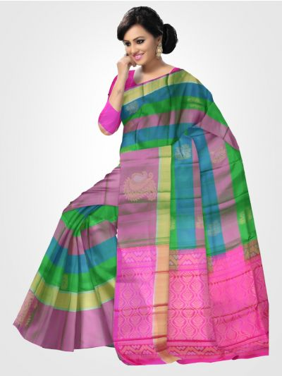 Soft Silk Multicolor Saree