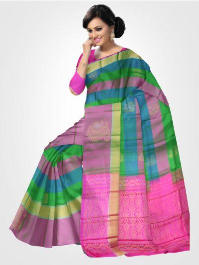 Soft Silk Multicolor Saree