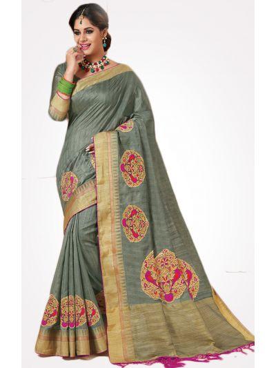fd3c9686eb Brasso sarees, Embroidery sarees, Bhagalpuri sarees, Fancy Sarees ...