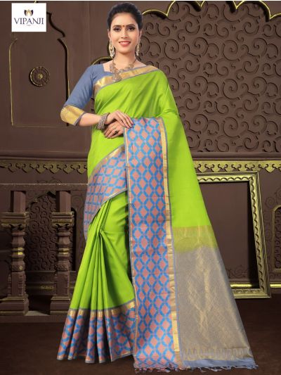 Vipanji Traditional Silk Saree - MIB3448664 (1350)