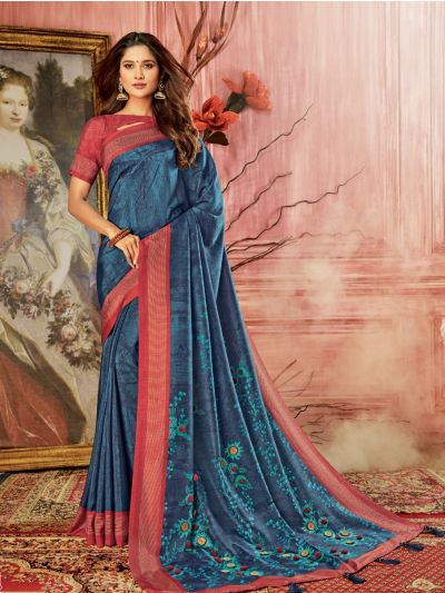 Kathana Fancy Semi Jute Saree-MFB5134740