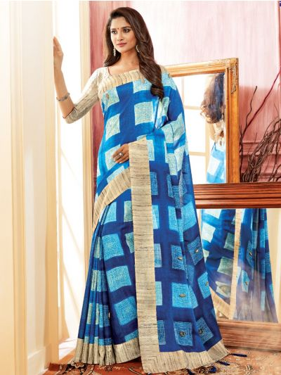 Kathana Fancy Semi Jute Saree - MFB5134748